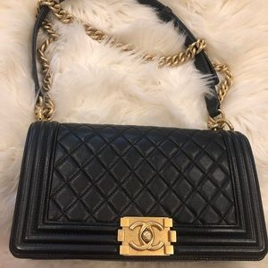 SOLD Authentic Chanel Boy old medium
